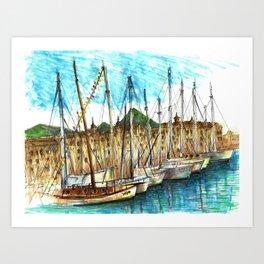 sicily port see Art Print