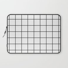 White Grid Laptop Sleeve