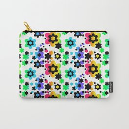 Rainbow Floral Abstract Flower Carry-All Pouch