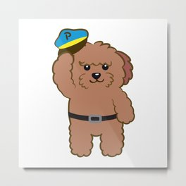 Poodle Police Metal Print