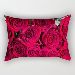 Romantic Bouquet Of Red Roses Rectangular Pillow