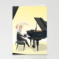 tim shumate Stationery Cards featuring Tim Minchin by Lesley Vamos