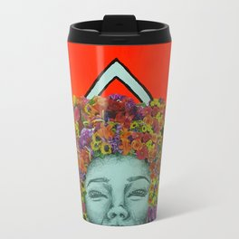 Flower Hair Travel Mug