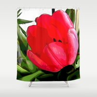 tulip Shower Curtains featuring Tulip by Mr & Mrs Quirynen