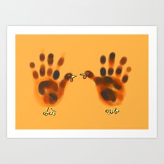 two hands for thanksgiving Art Print