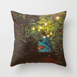 Follow the Lights (Color) Throw Pillow