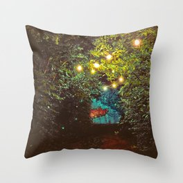 Follow the Lights (Color) Throw Pillow