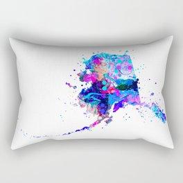 Alaska Map Rectangular Pillow