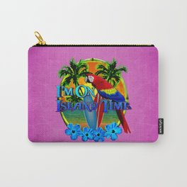Pink Island Time Sunset Carry-All Pouch