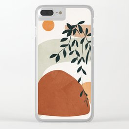Soft Shapes I Clear iPhone Case