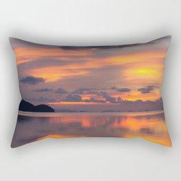 Orange sunset reflection Rectangular Pillow