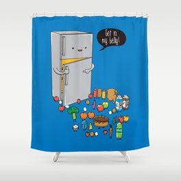 Get in my belly Shower Curtain