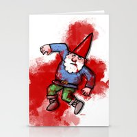 gnome Stationery Cards featuring Crushed Gnome by Stephan Brusche