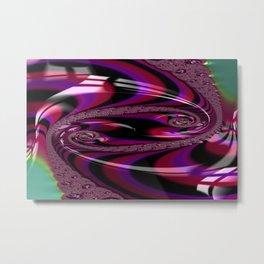 Enamored Selenium Fractal 8 Metal Print