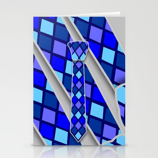 Blue Tie Stationery Cards