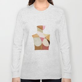 The Woman Patchwork Watercolor Print Long Sleeve T-shirt