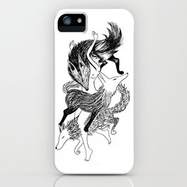 Femme Loup Tattoo iPhone Case