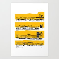 Downtown Guelph elevation drawing Art Print