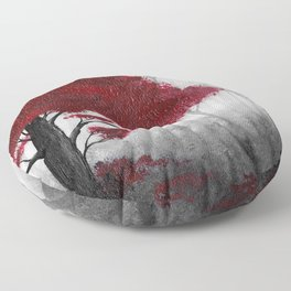 The Dark Forest (color) Floor Pillow