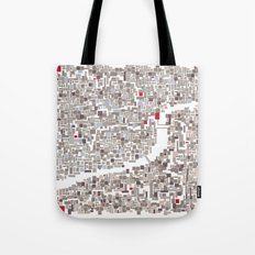 mapping home Tote Bag