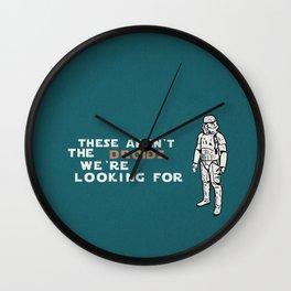 "OBI WAN""s doing Wall Clock"