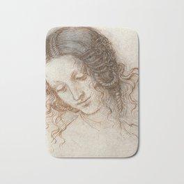 Leonardo da Vinci - Head of Leda Bath Mat