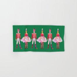 Nutcracker Ballet - Candy Cane Green Hand & Bath Towel