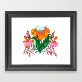 Sleepy Garden Framed Art Print