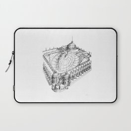 Temple . XVIII Century. Drawing by Tereza Del Pilar Laptop Sleeve