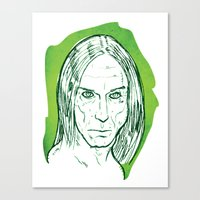 iggy pop Canvas Prints featuring Iggy Pop! by BTillustration