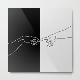 Hands of God and Adam- The creation of Adam Metal Print