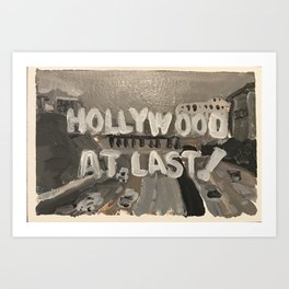 I Love Lucy-Hollywood at last! Art Print