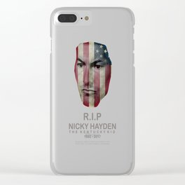 RIP NICKY HAYDEN Clear iPhone Case