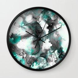 abstract smoke sky inks Wall Clock