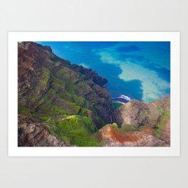 Na Pali Coast Detail, Kaua'i, Hawai'i Art Print