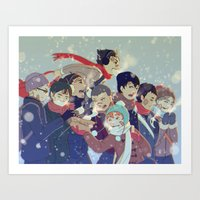 haikyuu Art Prints featuring Haikyuu!! by x3uu