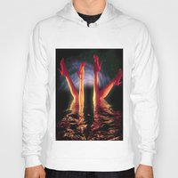 swim Hoodies featuring night swim by KrisLeov