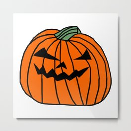 Spooky Halloween Pumpkin Metal Print