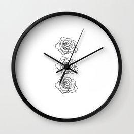 Rose Noire Wall Clock