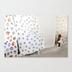 Peek-a-boo baby Canvas Print