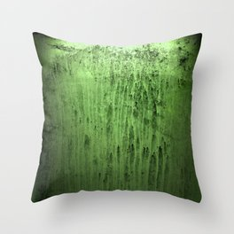 Old green window at night Throw Pillow