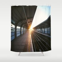 jewish Shower Curtains featuring The light at the end of the tunnel by Brown Eyed Lady