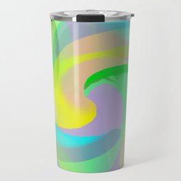 Soft Rainbow Abstract - Painterly Travel Mug