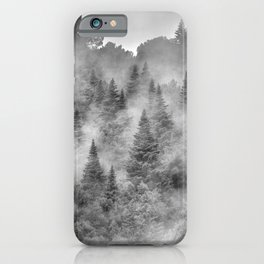 Pinsapos forest. Foggy morning. Endemic trees. iPhone Case