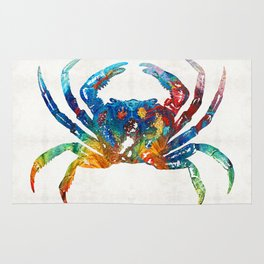 Colorful Crab Art by Sharon Cummings Rug