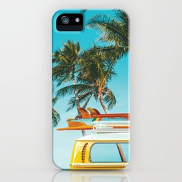 Yellow Van Down by the Sea iPhone Case