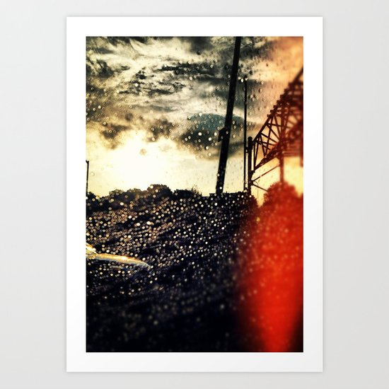 Paradise above the storm Art Print