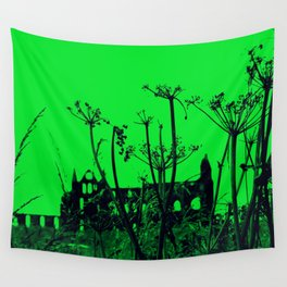 Whitby Abbey in Green Wall Tapestry