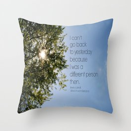 Different Person Alice in Wonderland Throw Pillow