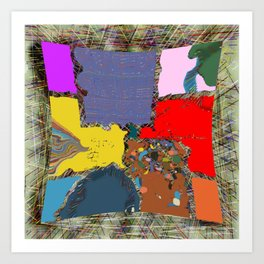 Curved puzzle Art Print